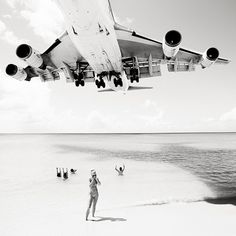 Tumblr #amazing #photo #middleformat #6by6 #photography #plane #beach #blackandwhite