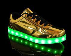 Light up shoes Luminous Shoes Sneaker Casual golden Shoes