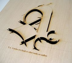 MFA Exhibition on Typography Served #type #letter #wood #typography