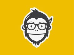 Nelson the chimp #vector #design #monkey #logo #character