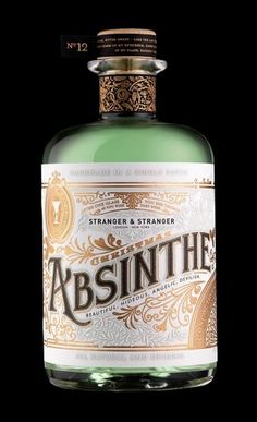 Stranger & Stranger Christmas Absinthe : Lovely Package® . Curating the very best packaging design. #packaging #absinthe #bottle