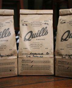design work life » Pedale Design: Quills Coffee #coffee #quills