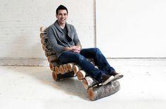 "CJWHO â""¢ (DIY Inspiration: Crafty Wood Log Chaise Lounge...) #chair #crafts #design #tutorial #wood #art #diy #trees"