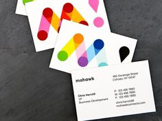 Mohawk Connects the Dots - Brand New #business #logo #cards #branding