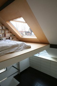 loft . ceiling window