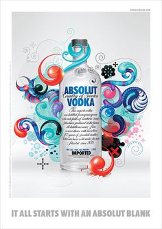 Absolut Blank on Behance #illustration #posters
