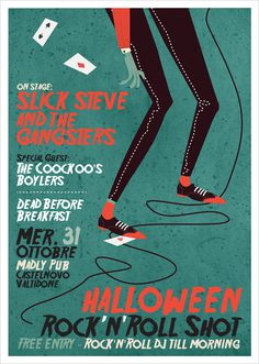 Halloween Night Gig Poster on Behance #poster #gig poster #halloween