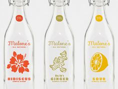 Malone_s #packaging #illustration #bottles #liquor