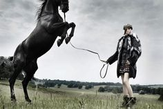 Edie Campbell by Mario Testino for US Vogue