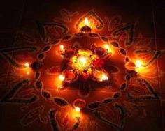 Simple Rangoli Design For Diwali