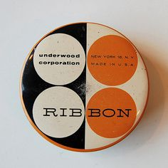 Vintage Typewriter Ribbon tin