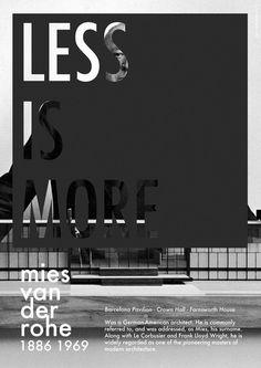 luis teixeira #poster #white #graphic #black #van der rohe