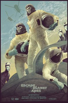 Escape from the Planet of the Apes #illustration #rich #kelly #poster