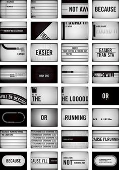 Storyboards : Jan Avendano #typography #black and white #motion graphics #storyboard