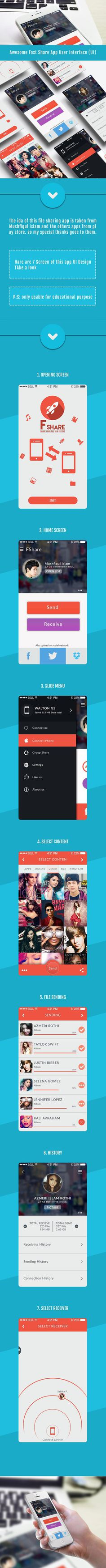 File share app UI design by Ashadul islam Samiul