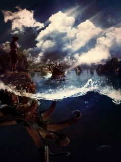 A Journey to Tortuga » Design You Trust – Social Inspirations! #ocean #matte #tortuga #ship #sea #art #painting #pirates #kraken