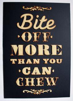 Edible poster