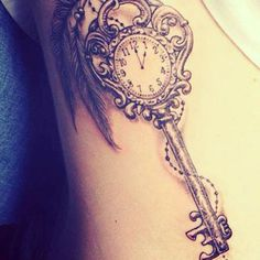 50 Inspiring Lock and Key Tattoos #key #tattoos #lock
