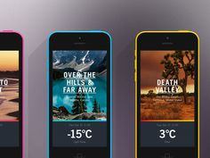 Global Outlook // iPhone collection #weather #branding #ux #collection #vibrant #ui #iphone #colors #gradient #usa #web #typography