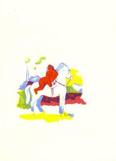 illustration, Bright, color, horse, woman #bright #horse #woman #color #illustration