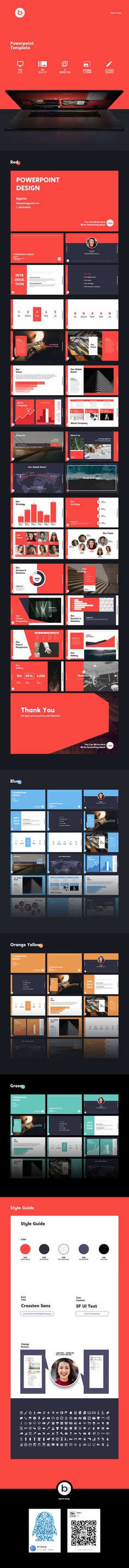 Powerpoint Template PPT Slide Business Plan on Behance