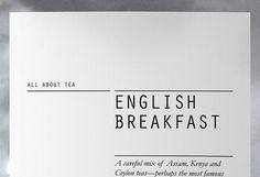 Fonts In Use – All About Tea #packaging #typography