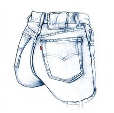 UPPERorange #sexy #illustration #drawn #bleistift #hand #jeans