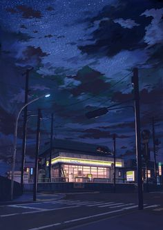 Illustration, Japan. #illustration #japan #night time