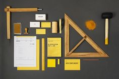ACRE on the Behance Network #acre #yellow #identity #stationery #din