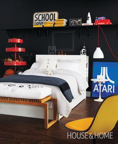 Birch + Bird Vintage Home Interiors #interior #design #atari #bedroom