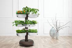 The Taiga smart garden tower, designed to be a compact garden, brings the simplicity of an organized garden into your home, enabling you to