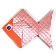 How to make a traditional origami goldfish (http://www.origami-make.org/howto-origami-fish.php)