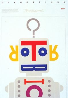 Baubauhaus. #illustration #typo #robot