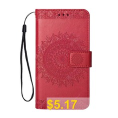 Totem #Design #Embossed #Wallet #Flip #PU #Leather #Card #Holder #Standing #Phone #Case #for #iPhone #6 #Plus/6s #Plus #5.5 #Inch #- #RED