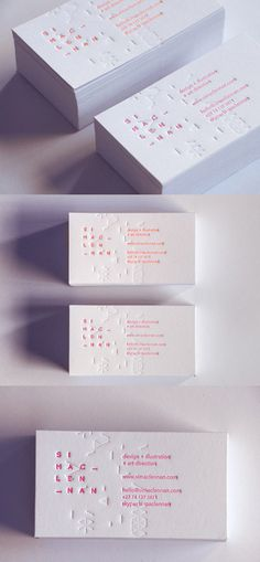 business cards #white #business #card #letterpress #corporate #identity #minimal