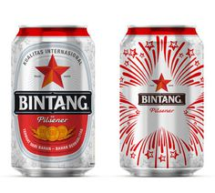 Bintang Limited Edition Can #beer #can #label #packaging