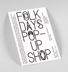 Folkdays — Corporate Design Stahl R #poster #typography
