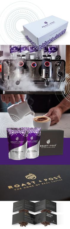 Roast & Post branding, packaging and photography, by Redspa http://redspa.uk