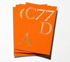 Studio Lin — High-res Special | September Industry #orange #lin #studio #type #core77 #foil