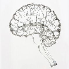 Wire Anatomy | Colossal #sculpture #handmade #brain #wire