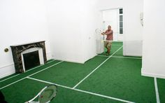 benedetto bufalino turns a french apartment into a tennis court #house tennis