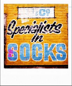 Socks | Flickr - Photo Sharing! #signage #type #found