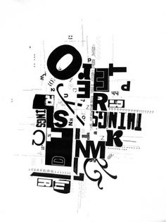 Collage Typographique on the Behance Network #typography