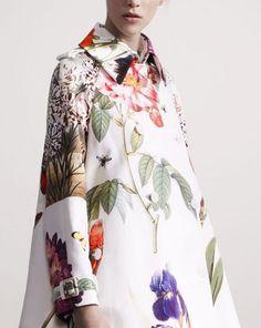 Qompendium - Stella McCartney goes Botanical #botanical #pattern #floral #coat #fashion