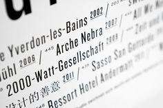 Holzer Kobler Architekturen : Studio Laucke Siebein #type #typography