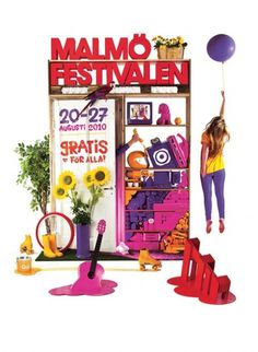 Malmöfestivalen Image Poster 2010 | Flickr - Photo Sharing! #red #installation #pink #design #graphic #snask #identity #stilleben #art #purple #fashion #typography