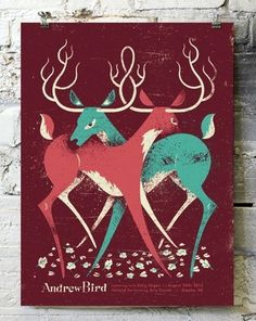 Doe Eyed #deer #bird #poster #music #andrew