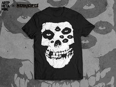 Fiend Skull T-shirt design #punk #horror #misfits #fiend #t-shirt #skull