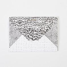 PAPER STOCK — PAPER STOCK Animal / Crayon-dot / Spot Diamond Flap Notebook