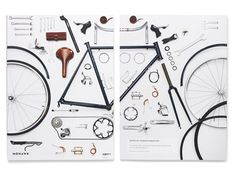 Mohawk Superfine Shown to Advantage in Promotional Book | VSA Partners #design #vsapartners #bicycle #publication